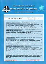 Int. Journal of Mining & Geo-Engineering